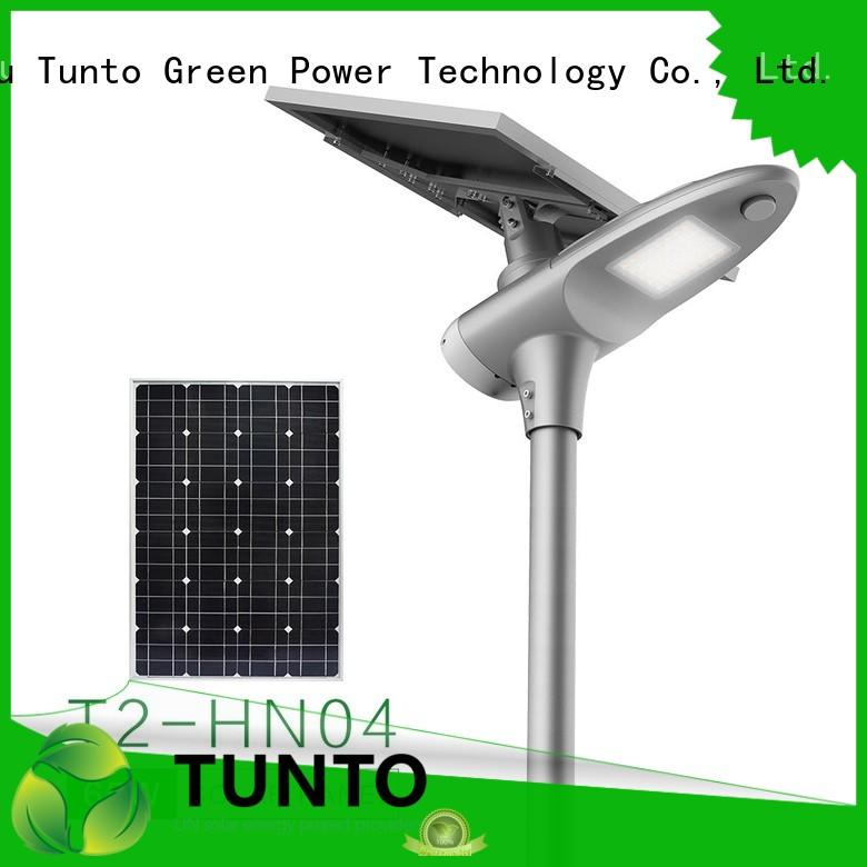 Tunto waterproof integrated solar light factory price for plaza