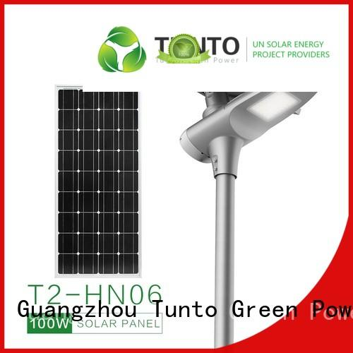 Tunto energy saving solar powered led street lights supplier for road