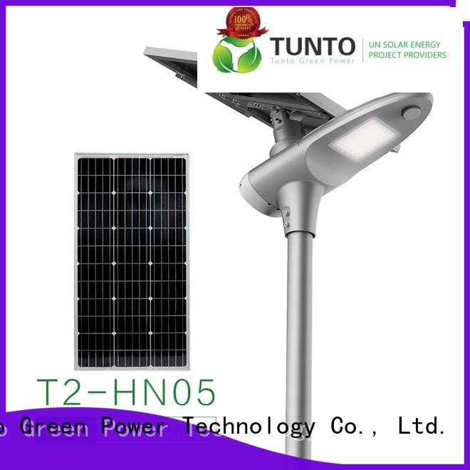 Tunto 30w solar powered parking lot lights supplier for road