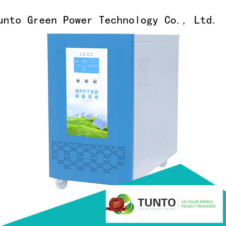 Tunto onboard solar inverter system personalized for lamp