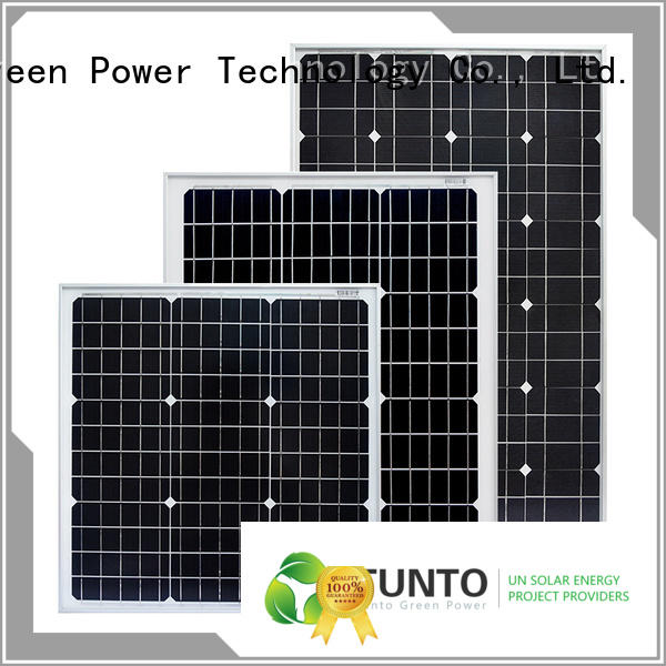 Tunto monocrystalline solar panel personalized for solar plant