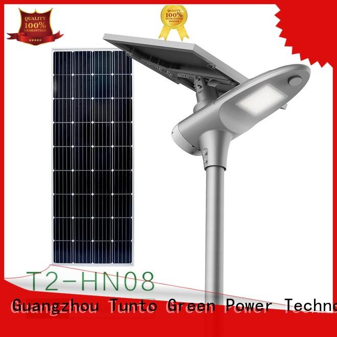 Tunto energy saving solar parking lot lights factory price for outdoor
