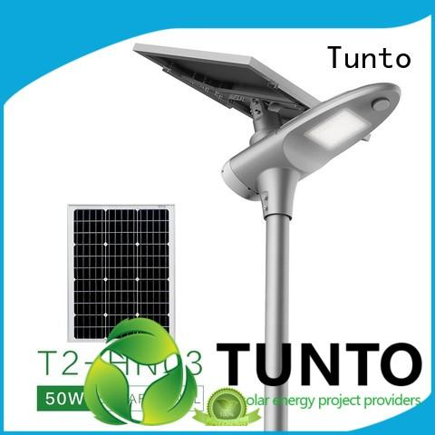 Tunto cool solar powered parking lot lights system for road