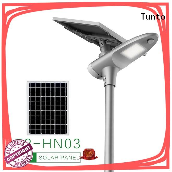 Tunto quality commercial solar street lights supplier for plaza