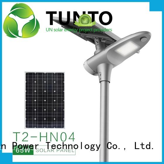 waterproof solar powered led pole lights wholesale for outdoor Tunto