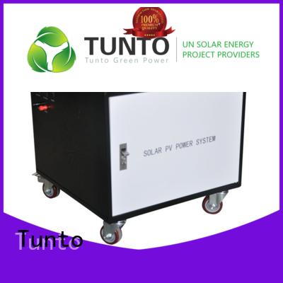 Tunto Brand portable mini custom led street light solar system